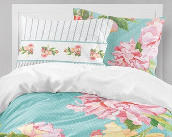 Shabby Chic Bedding Teen Bedding Girls Bedding Duvet Cover Queen Kids Bedding  Girls Bedroom Decor Girls