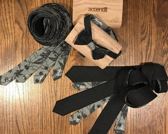 Handcrafted Bow Tie and Ties with personalization