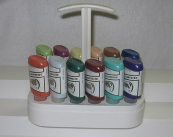 Ginger's Cameo K008 Sparkle Kit 2 Acrylic Ballpoint Fabric Paints 12~Paints 1~Plastic Mini Toter Plus~Free Shipping!