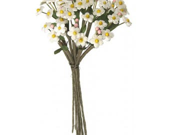 Czech Republic Velvet Forget Me Nots Millinery Fabric Flowers White NFC046-W