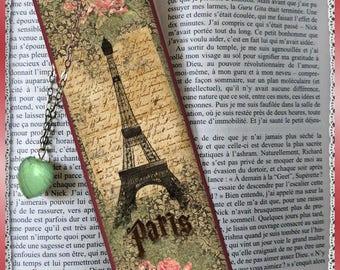 "Bookmarks laminated ""rétro Paris"", gift, cheap"