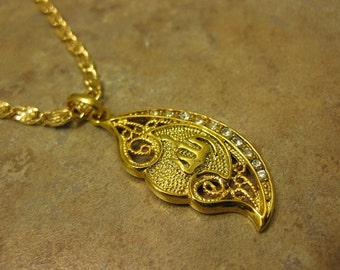 Islamic Jewelry , Allah jewelry Allah Necklace,  Allah Gold Necklace - 9K Gold Filled Chain   Muslim Necklace  Allah Pendant