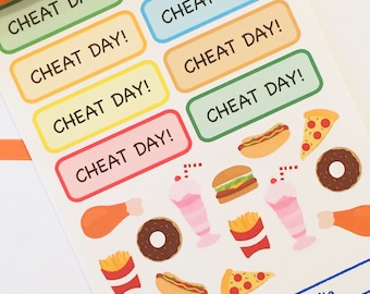 22 Cheat Day Planner Stickers- Fast Food, Treats and Ice Cream Stickers- perfect in your Erin Condren planner, calendar or scrapbook