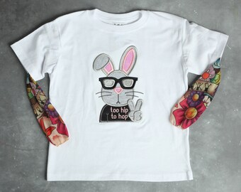 Too Hip Too Hop Easter Bunny Tattoo Sleeve Shirt