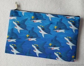 Sharpedo Zipper Pouch