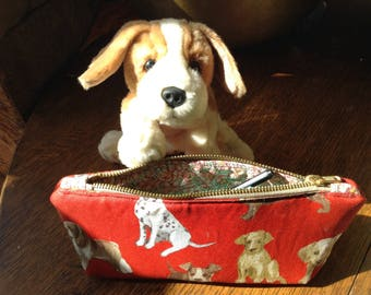 Gifts for dog lovers, pencil case, desk tidy, project holder
