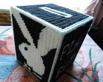 Plastic Canvas Playboy Bunny Tissue Box Cover  #49