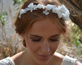 Preserved flowers headband Leonie for your wedding - bridal hairstyle