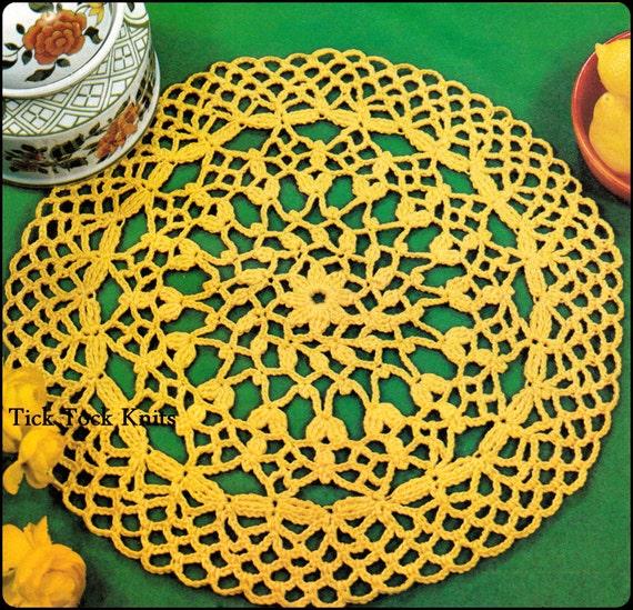 No.322 Deckchen häkeln Muster PDF-Vintage Flowerbud Deckchen