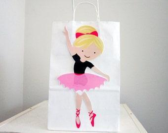 Ballet Goody Bags, Ballerina Goody Bags, Ballet Favor Bags, Ballerina Favor Bags, Pink Skirt