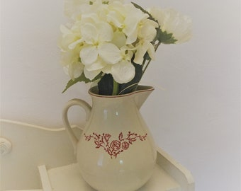 Shabby water pitcher /Vintage French jug