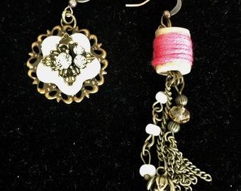 One of a Kind, Mix & Match Earrings, Sewing fans