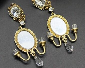 """Vintage """"Art Baroque mirror"""" earrings"""