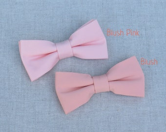 Blush Bow tie,Mens BowTie, Bow Tie for Wedding, Bow tie for Groom & Groomsmen, Kid Baby Boy Bow Tie, Blush Pink Wedding Bow Tie