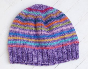 Hat Knitting For Dolls Like Blythe Giggi Patti 7-8 8-9 And Head Size Dolls Meadow Violet Colorful