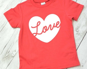 Valentine shirt for boys, Valentine shirt for girls, kids Valentine shirt, heart shirt, love shirt, girls valentine shirt, red shirt