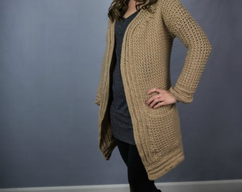 Instant Download- Crochet Pattern- Kristen Cardigan
