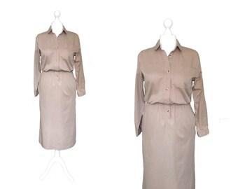 Vintage Dress   Shirt Dress   Lands End Dress