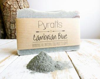 Cambrian Blue Soap, Cambrian Blue Clay, Blue Clay Soap, Organic Soap, Palm Free Soap, Detox Soap, Red Clay, Cold Process Soap