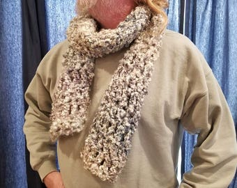 Super soft hand-crocheted scarf