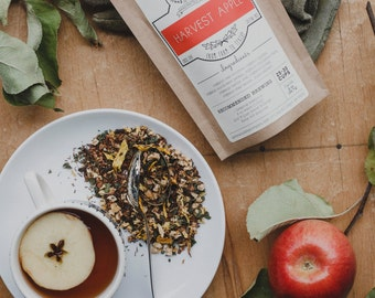 Harvest Apple Tea W/Apples, Sunflower Petals, Nettle Leaf | ORGANIC |  Loose Leaf Blend