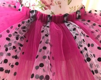 Pink polka dot tutu