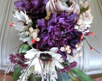 Cascading Fall bridal bouquet
