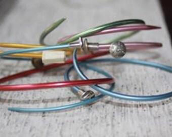 Knitting Needle Bangle Bracelet