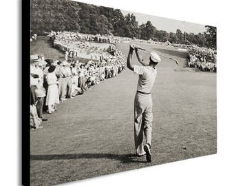 Ben Hogan Famous Golf Shot Icon Canvas Wall Art Print - Various Sizes