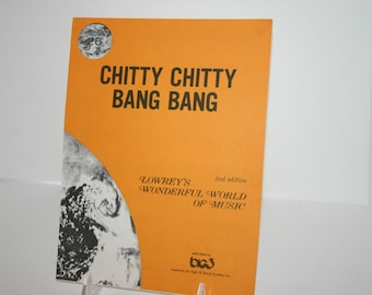 Vintage sheet music Chitty Chitty Bang Bang Lowrey's Wonderful World Music No. 26
