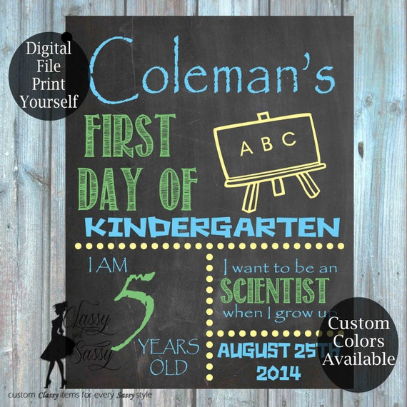 First Day Of School Chalkboard Sign 161