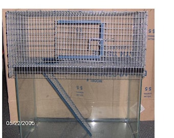 TWO Toppers Save on shipping   15 gal 1 Story Aquarium Cage Tank Topper gerbil rat hamster degu  Front Door  Not 1 topper but 2 toppers