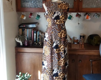 Meowww-rowr! Vintage Bombshell Animal Print Wiggle Gown