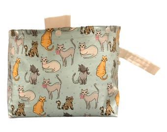 Fashionista Cats Project Bag Bucket Bag size large