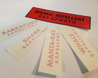 Oceanic Repellent Bat Spray Sticker Kit