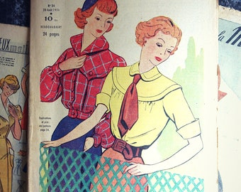 "Old magazine. ""Le petit echo fashion"" Edition French vintage. Great for scrapbooking/frame/curiosity"