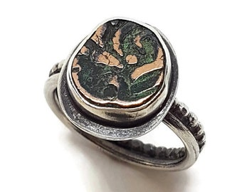 Antique Indian coin ring