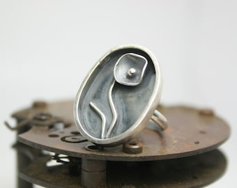 Sterling Silver Ring - Handmade - Sterling Silver