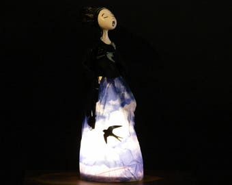 fado singer, lamp, crafts, Lisbon fado Portuguese