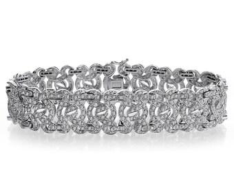 4.50 Carat Round Brilliant Cut Diamond Sundance Bracelet 14K White Gold