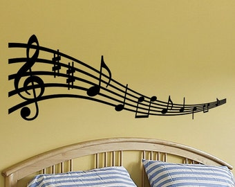 Music Notes Wall Art Musical Notes Wall Decal Music Note Wall Decor Musical Note Decorations Removable Vinyl Lettering Decal Wall Sticker