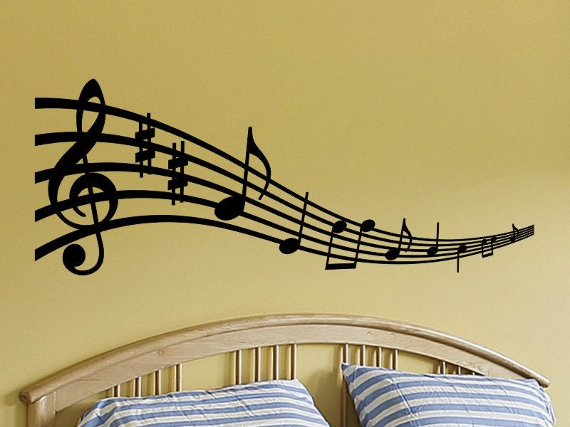 Music Notes Wall Art Musical Notes Wall Decal Music Note Wall