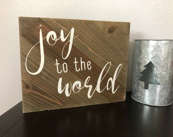 Joy to the World - Wooden Christmas Sign