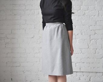 Vera skirt • vintage 1960s wool skirt • 60s grey wool A line skirt