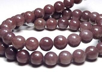 10 x 8mm purple Aventurine round beads
