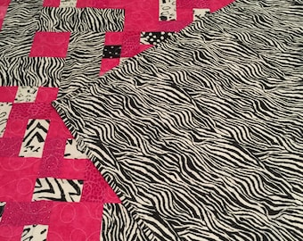 Bright Pink and Zebra Stripes