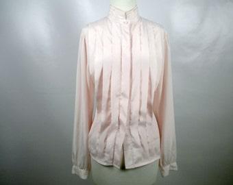 Vintage Nicola Pink Long Sleeve Blouse
