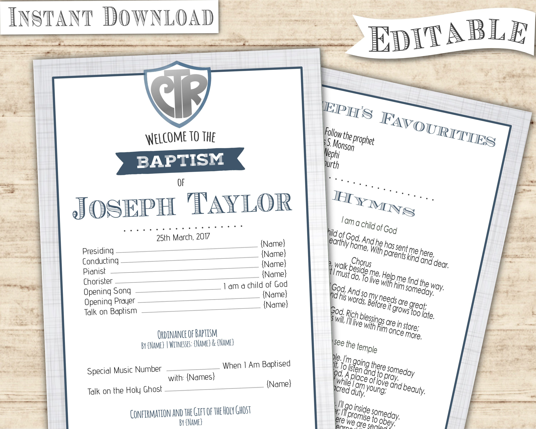 baptism program template free