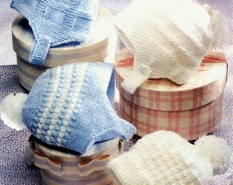 Baby Knitting PATTERN Helmets, Caps, Hats, Bonnets -  0 to 2 years