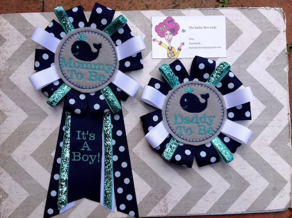 Elegant Mommy To Be Baby Shower Corsage Daddy To Be Baby Shower